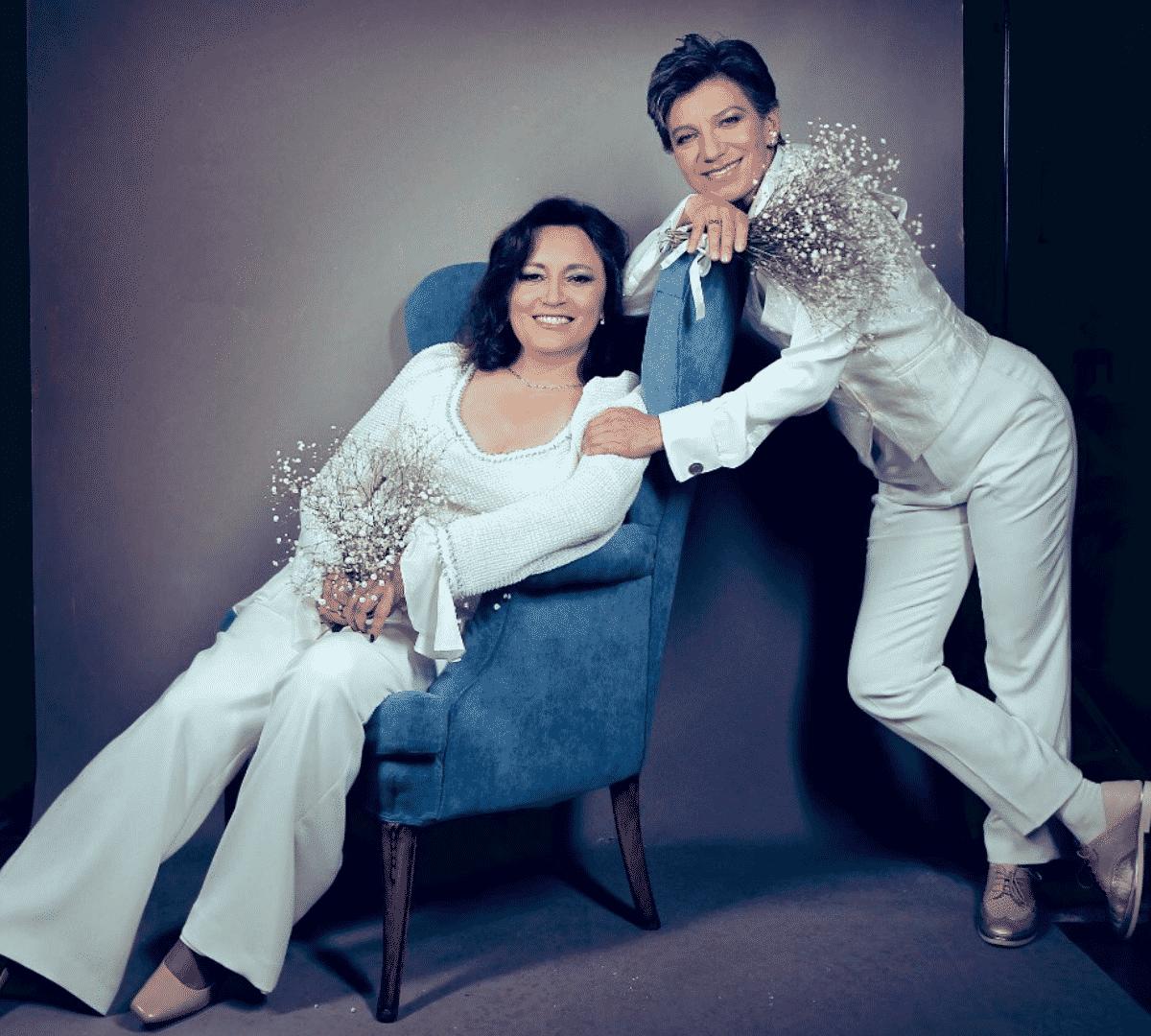 Angélica Lozano y Claudia López casar
