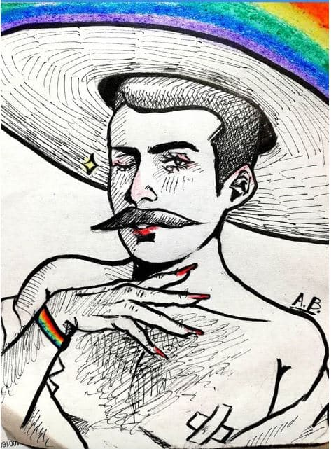 dibujar zapata gay