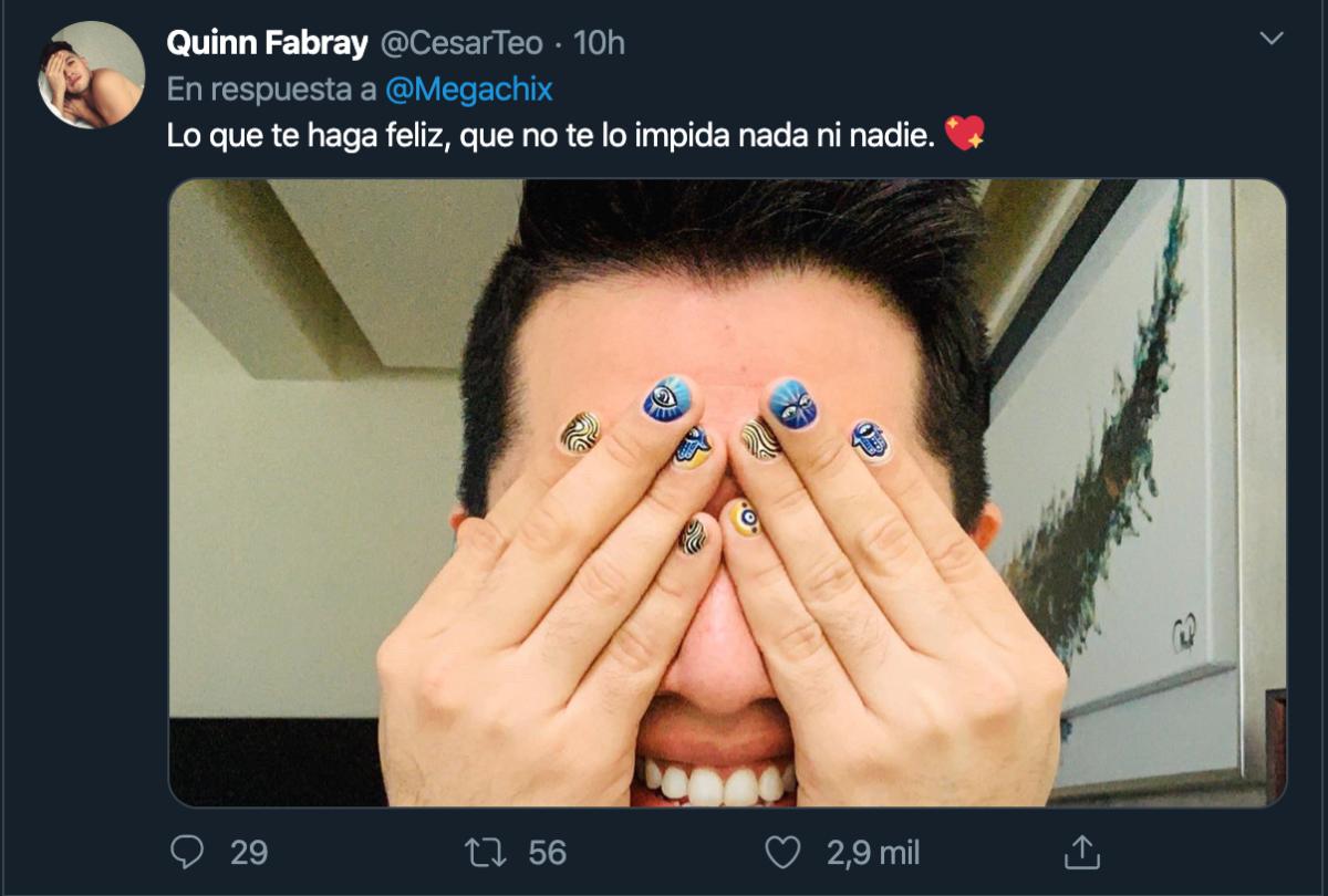 hombres uñas pintadas twitter portada