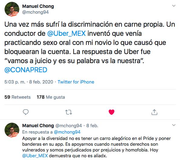 uber suspende usuario gay