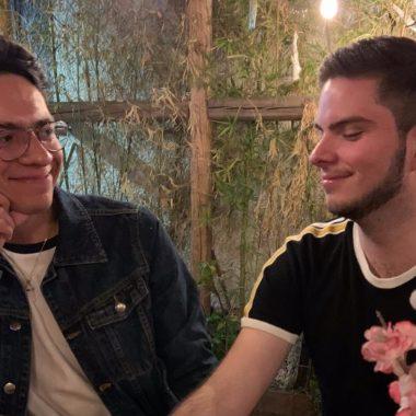 pareja gay mensaje servilleta