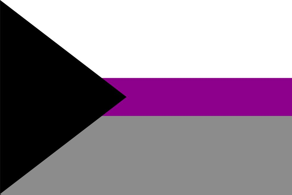 bandera demisexualidad