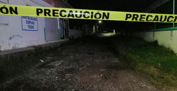 Escena del asesinato de Cirilo Lara en Veracruz
