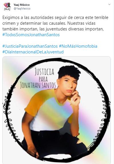 La ONG Yaaj pide justicia para Jonathan Santos