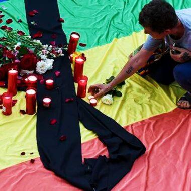 Homenaje a personas LGBT+ asesinadas en Colombia
