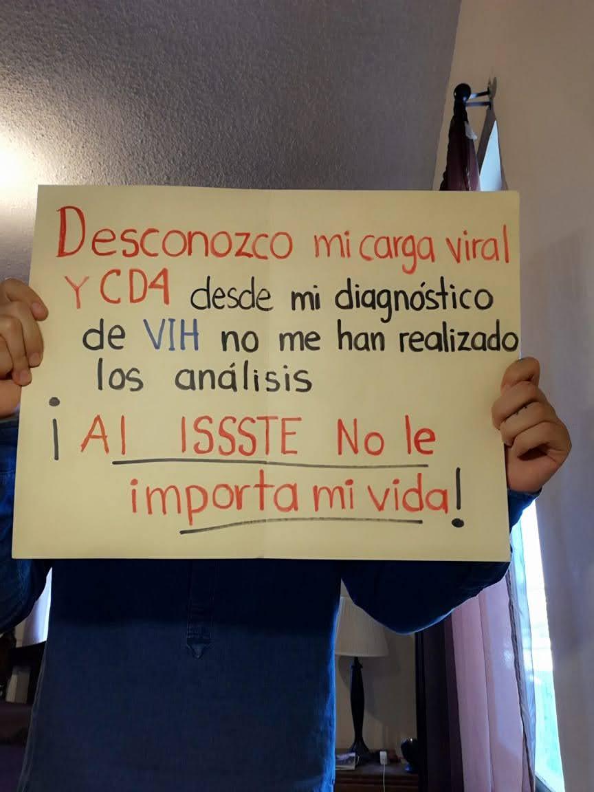Usuario con VIH del ISSSTE desconoce su carga viral.