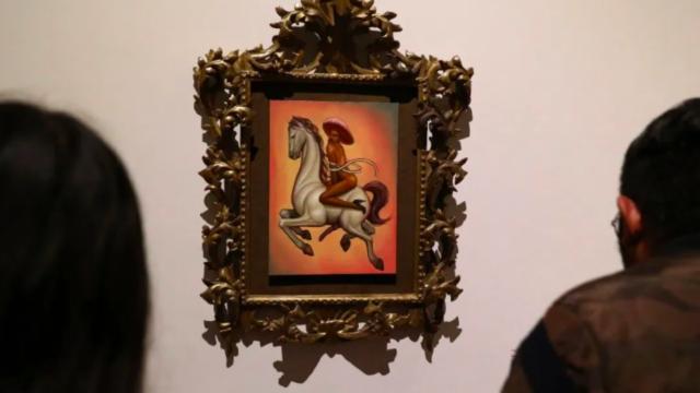 La obra conocida como 'Zapata gay' estará en una exposición al lado de piezas de Picasso.