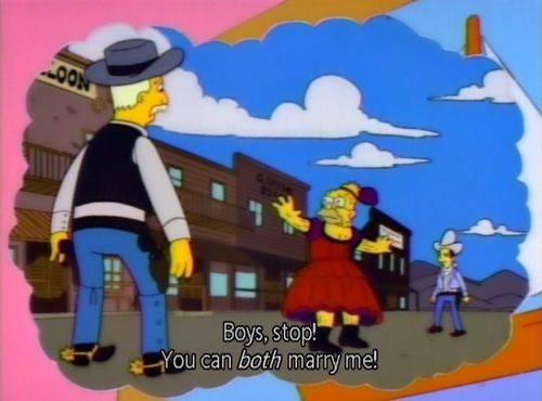 abuelo Simpson lisa bisexuales