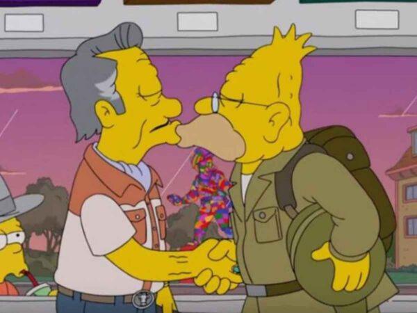 abuelo simpson y Lisa Simpson bisexuales
