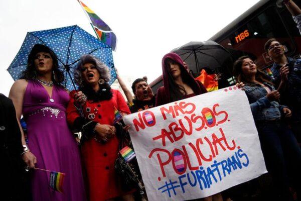 Protestas por los asesinatos de personas LGBT+ en Colombia