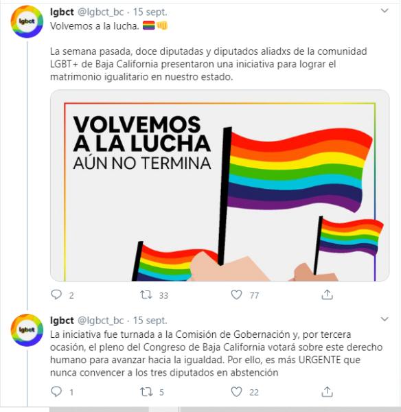 Congreso de Baja California matrimonio igualitario