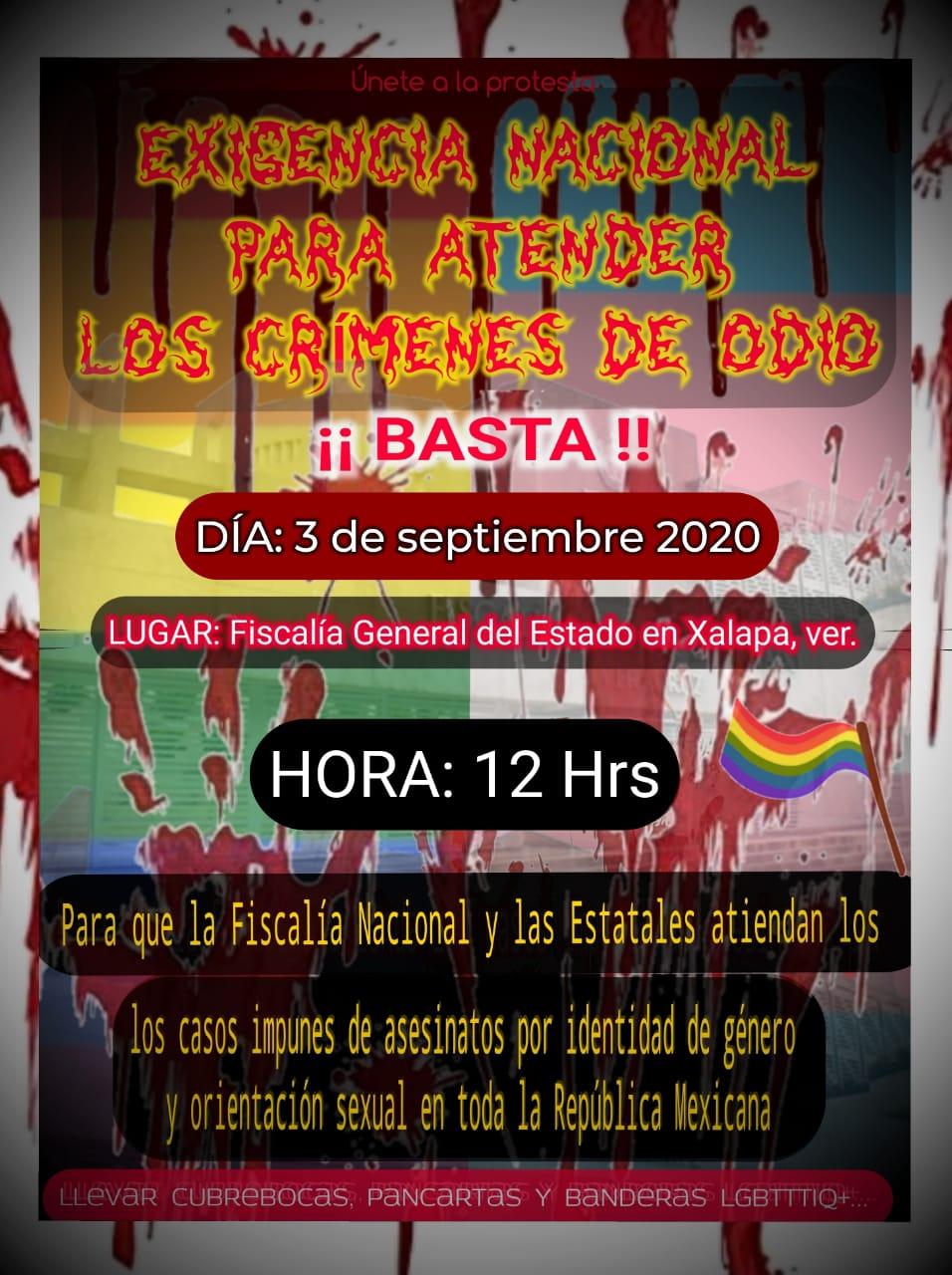 manifestación de activistas en huelga de hambre por crímenes de odio