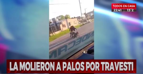 Titular con el que Crónica TV reportó el incidente.