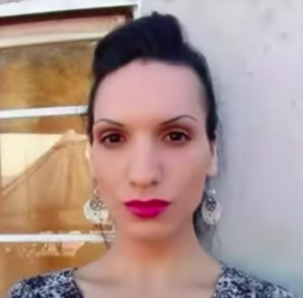 Katherine Martínez, la chica trans que fue golpeada por tres mujeres.