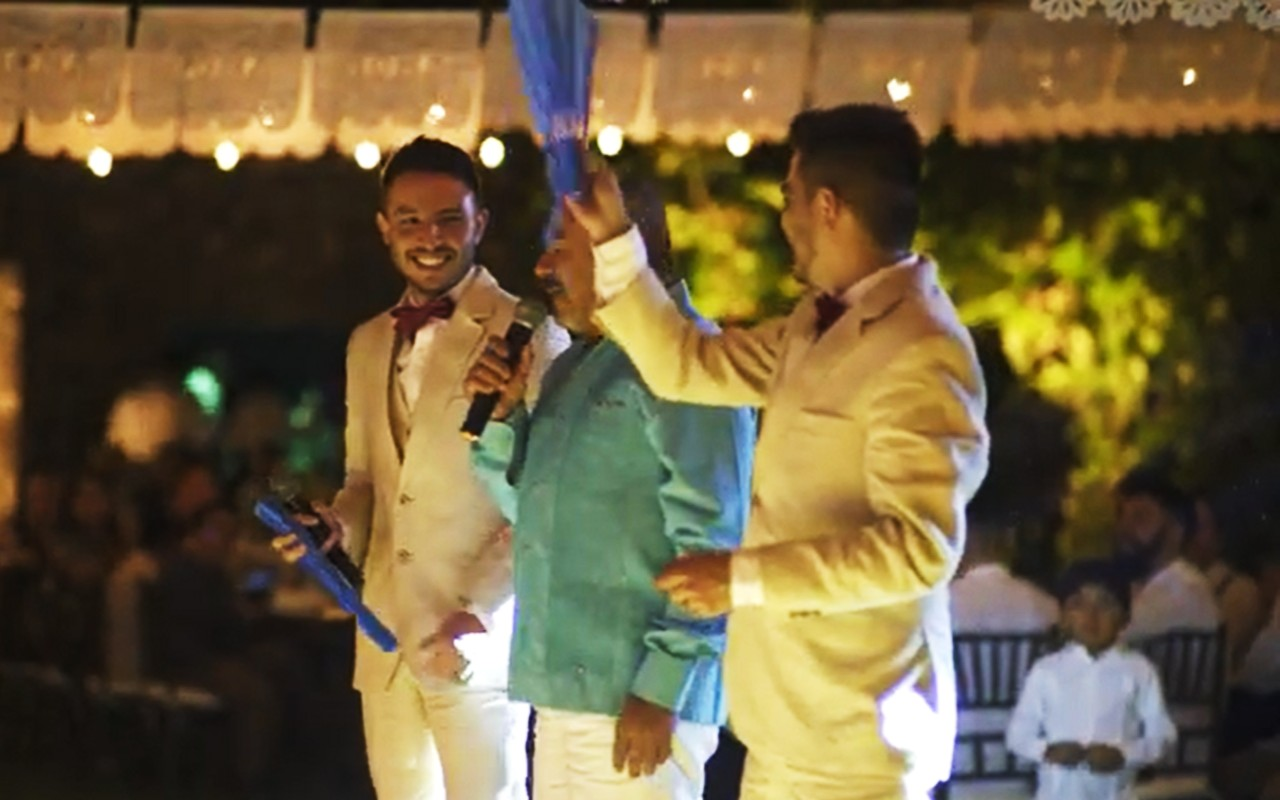video de papá en boda gay
