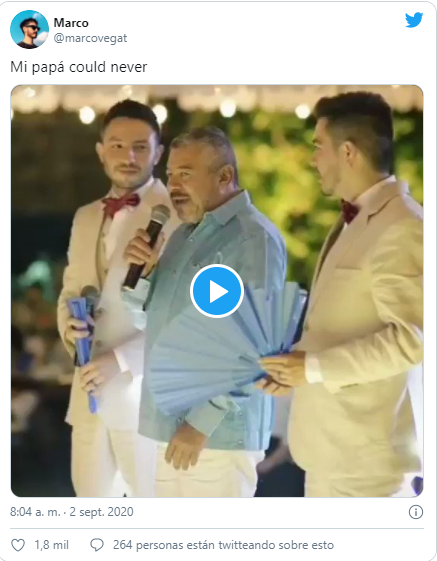 REacción de usuario de redes sociales al video de Andrés