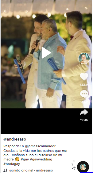 video de papá en boda gay