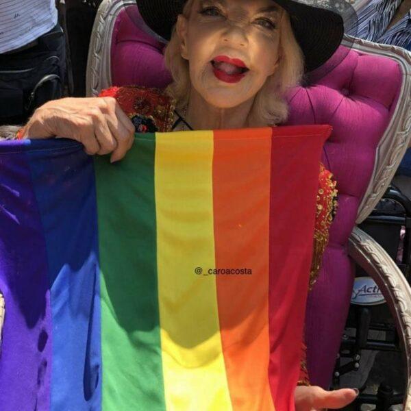 Wanda Seux muestra su apoyo a la comunidad LGBT+.