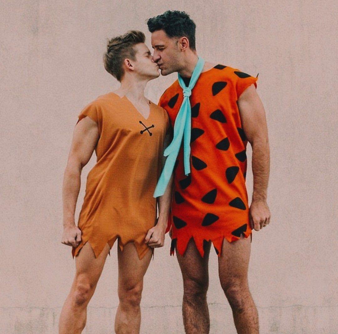 disfraces picapiedra halloween gay pareja