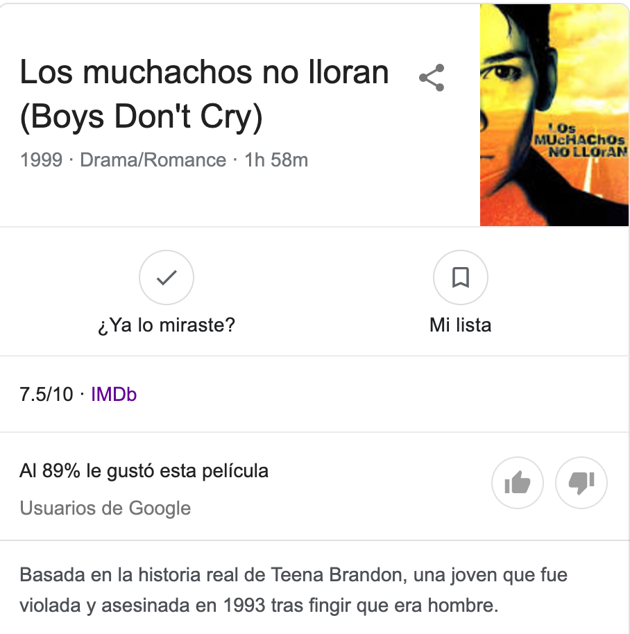 Boys Don't Cry Wikipedia Google