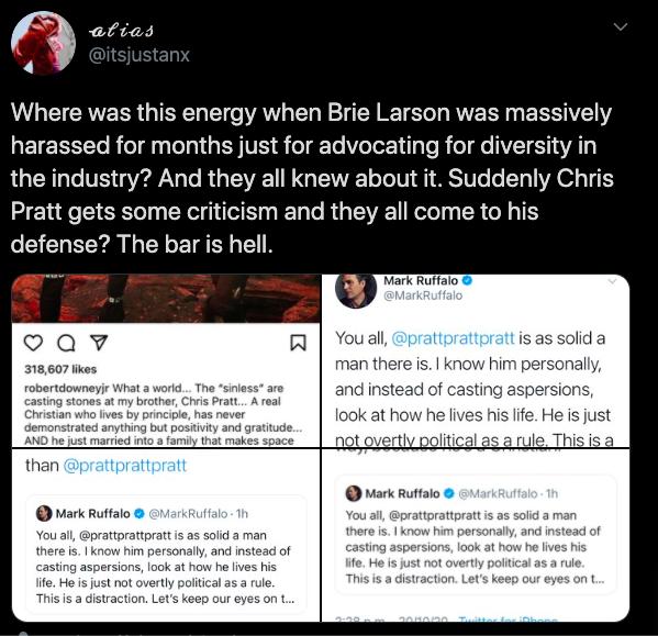 comentario twitter brie larson en defensa