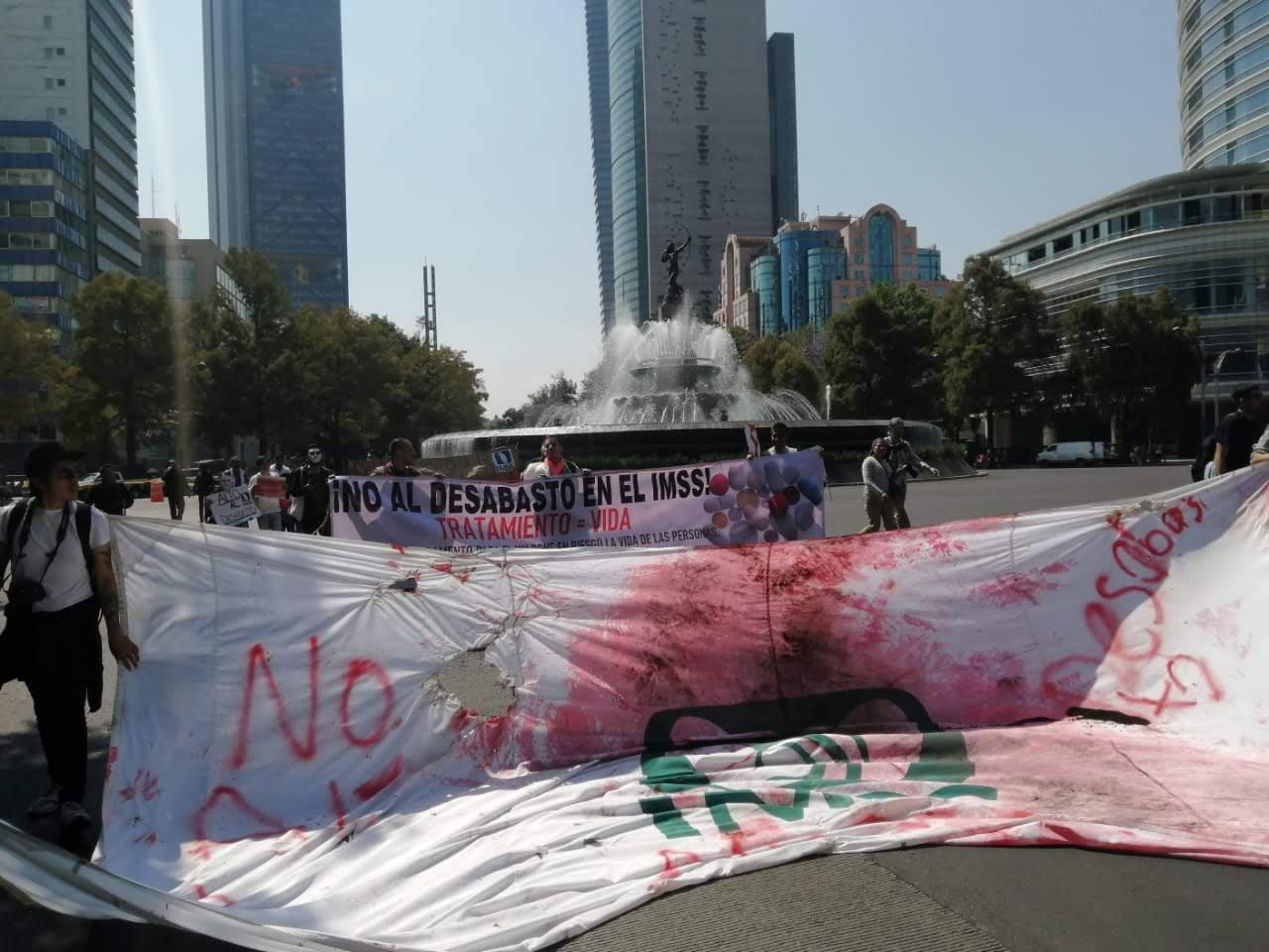 Protestas VIH IMSS febrero 2020 CDMX