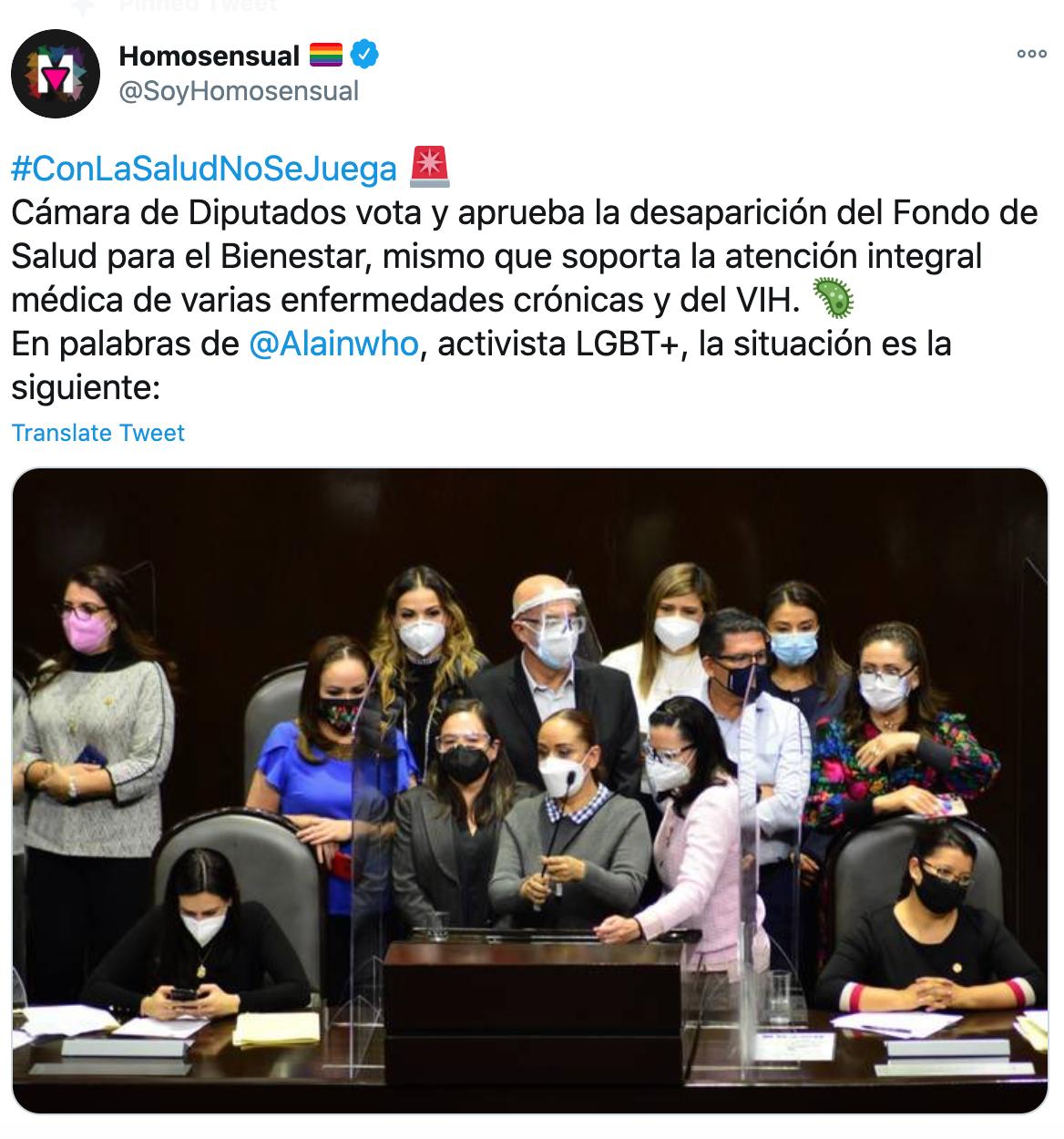 Diputados aprueban desaparecer Fondo de Salud para el Bienestar