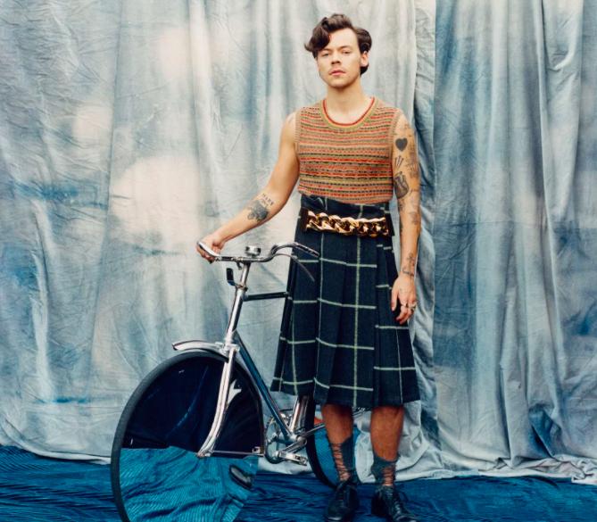 Harry Styles vestido falda vogue fotos