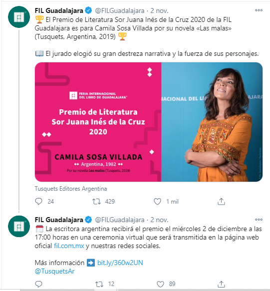 FIL Guadalajara 2020 Sor Juana