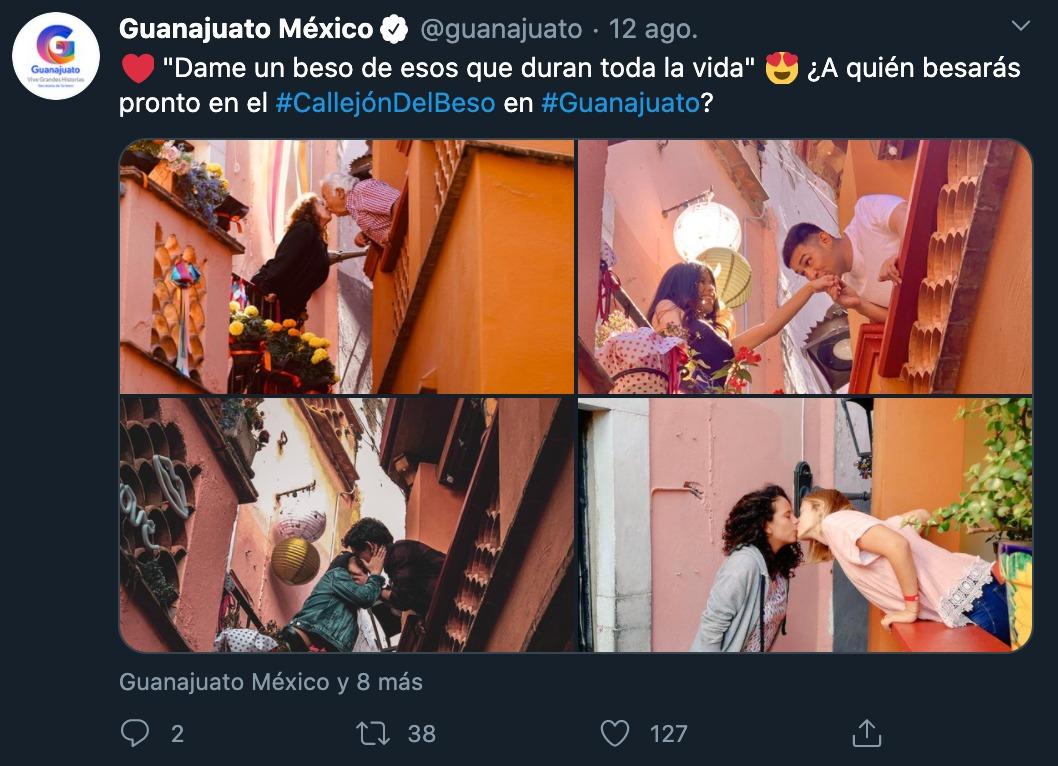 Campaña Guanajuato Callejón Beso lésbico