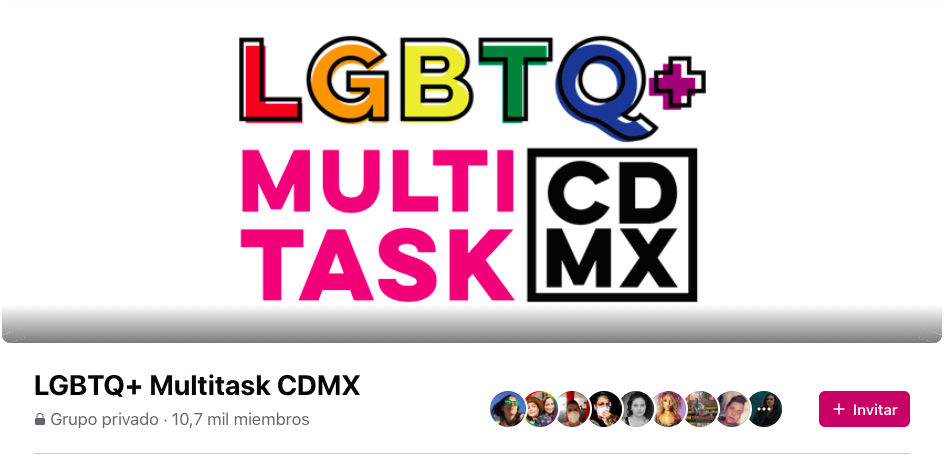 Grupo Facebook LGBTQ+ Multitask CDMX