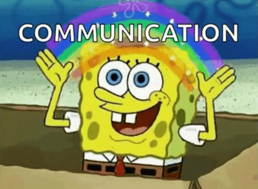 comunicación bob esponja