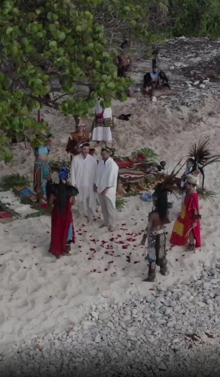 mauricio mejia ritual maya playa quintanan roo