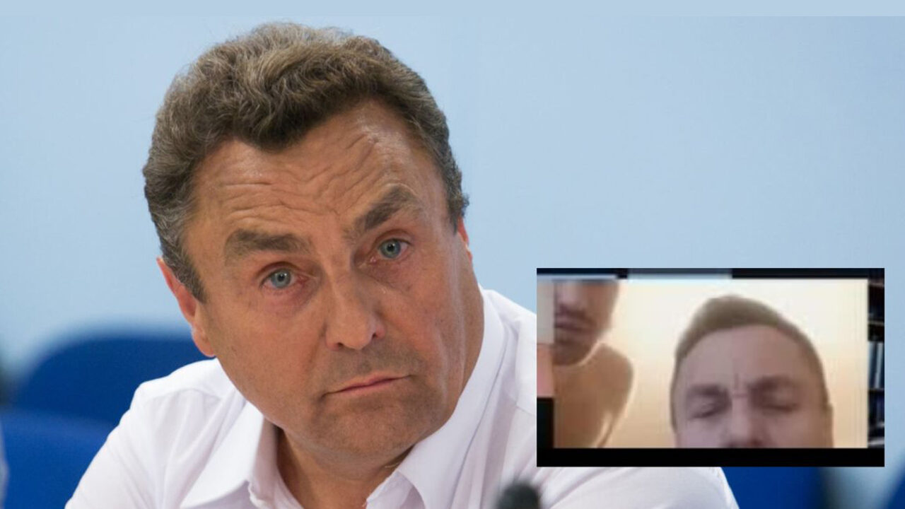 Petras Grazulis legislador antigay hombre desnudo en videollamada