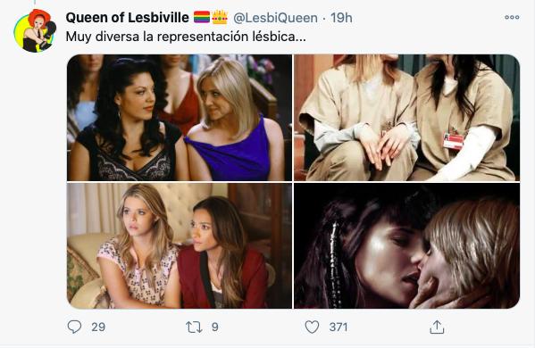 lesbianas rubias y castañas falta de diversidad en representación lésbica