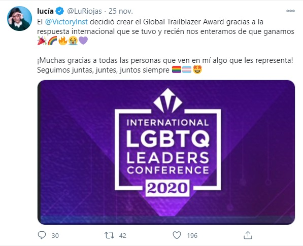 Lucía Riojas Premios personalidades LGBT+ 2020