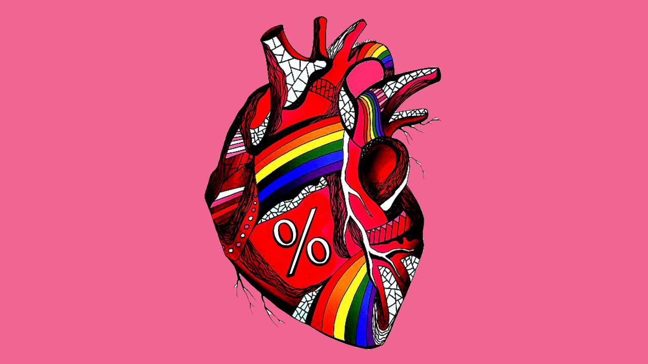 Quiz porcentaje heterosexualidad corazón LGBT+