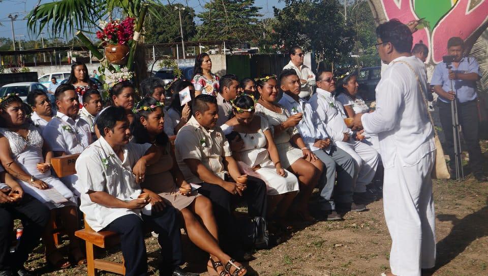 Boda colectiva en Lázaro Cárdenas, Quintana Roo