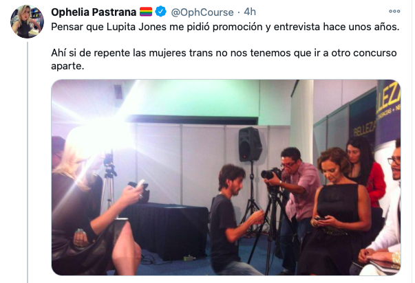 Lupita Jones y Gustavo Adolfo transfobia