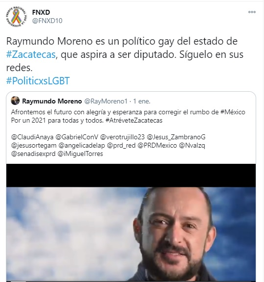 Raymundo Moreno candidato gay