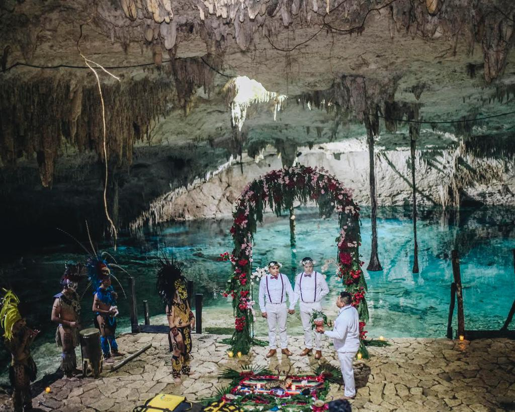 Boda maya gay en Cancún