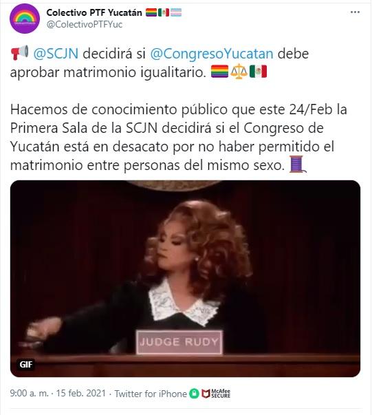 Suprema Corte decidirá sobre matrimonio igualitario en Yucatán