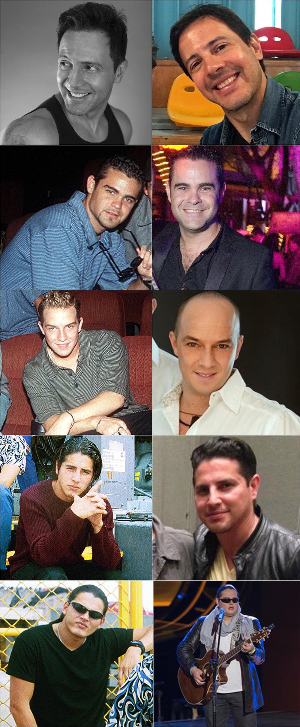 Integrantes boybands latinas antes y después Ragazzi