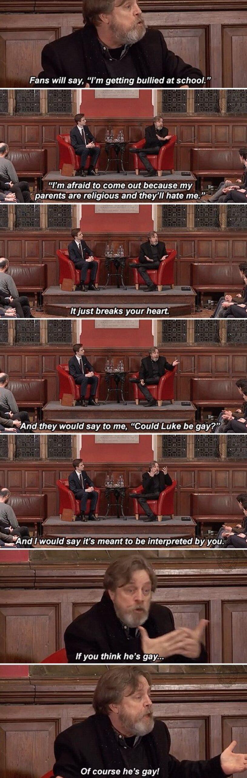 gif set Mark Hamill Luke skywalker gay