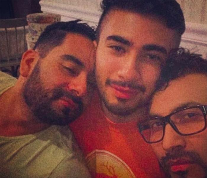 trieja gay poliamor abrazados