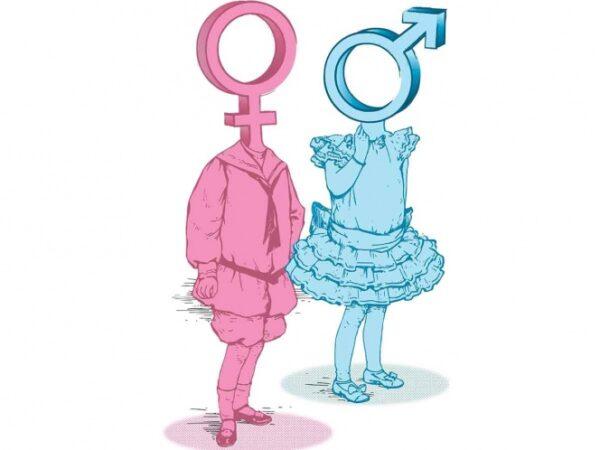 Ilustracion terapia hormonal caracteres de genero