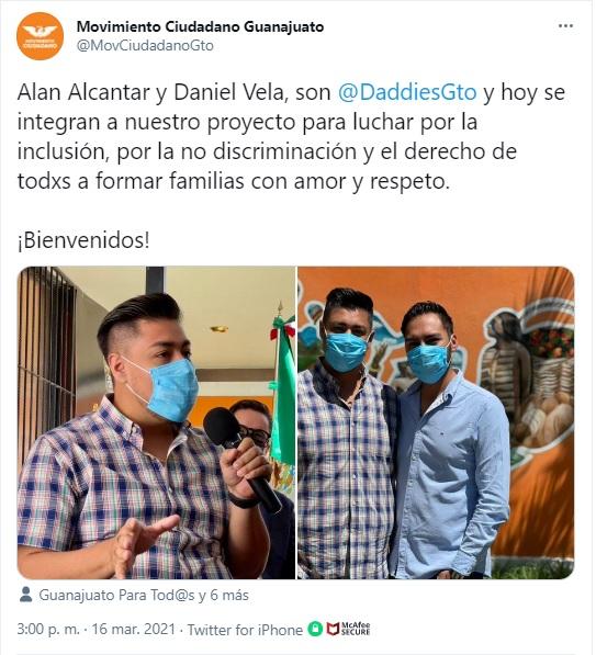 Alan Alcantar y Daniel Vela serán candidatos