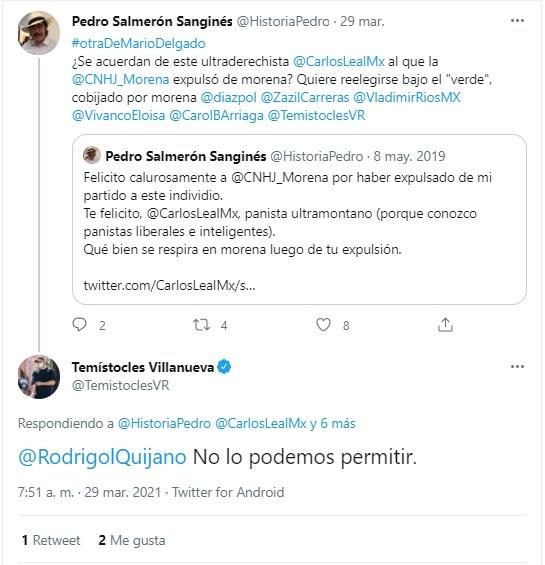 Carlos Leal buscará reelección por PVEM y Moerna
