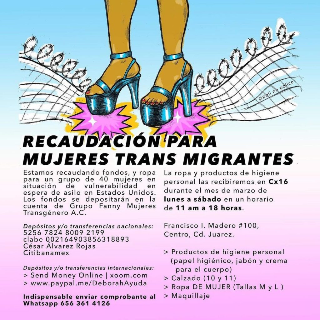 recaudación mujeres trans casa de colores ciudad juárez