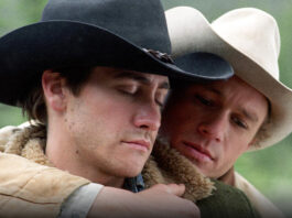 jake gyllenhaal heath ledger brokeback mountain besos gay